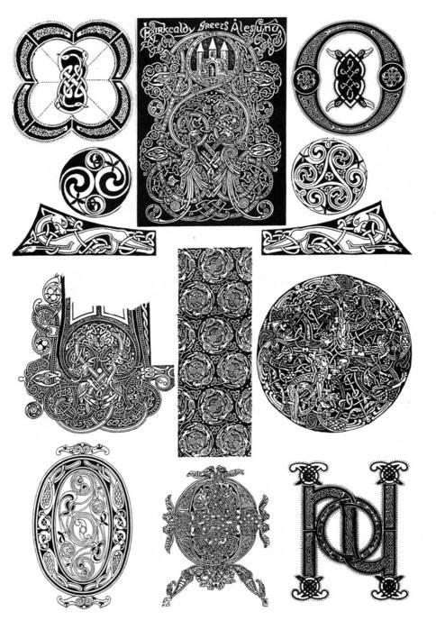 Кельты - кельтский рисунок кельтская плетенка.  Живопись.