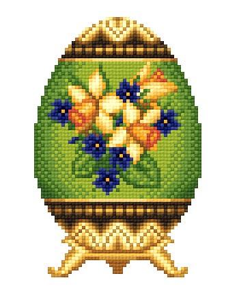 """Это цитата сообщения.  Пасхальное яйцо Фаберже  """"Весна """".  Вышивка крестом, схемы."""