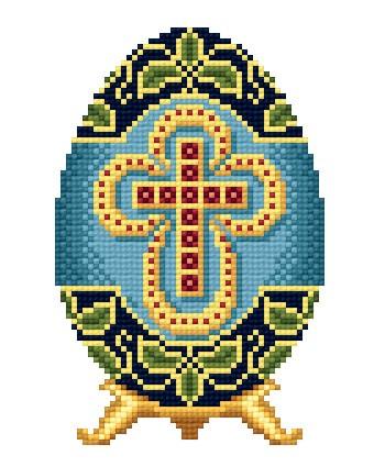 Вышивка Крестом Пасха.