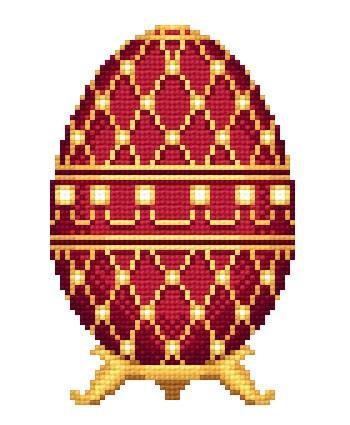 """Оригинал - Схема вышивки  """"Пасхальное яйцо """" - Схемы автора  """"ianuchka9 """" - Вышивка крестом."""
