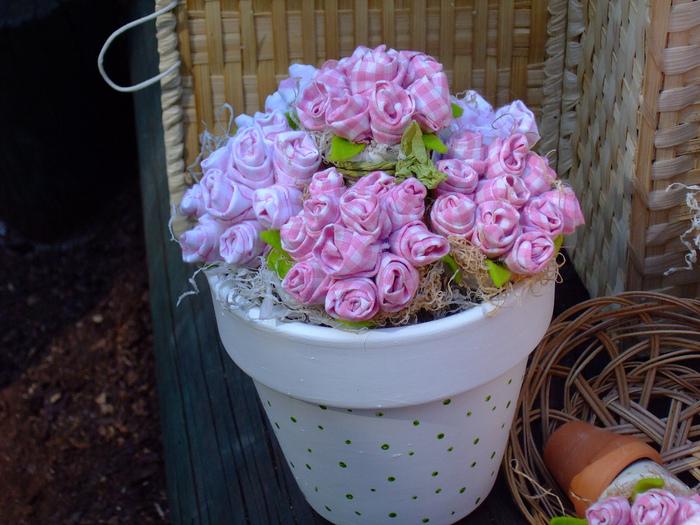 Цветы в горшок из ткани своими руками