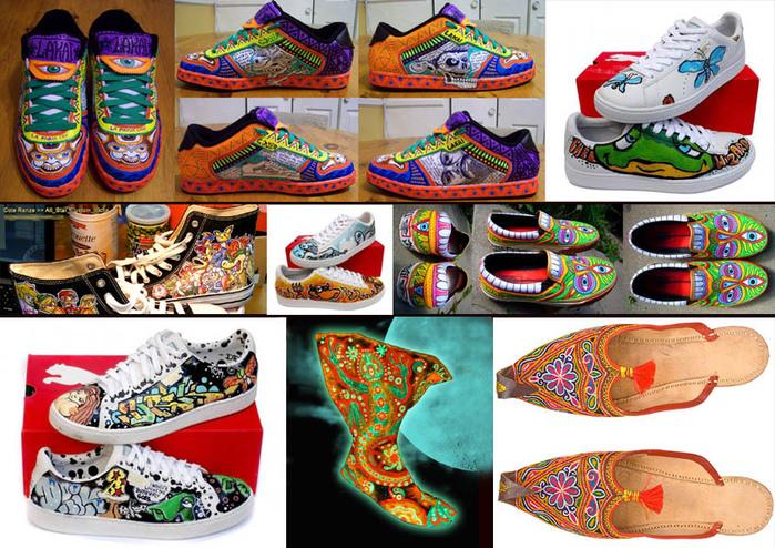 Идеи для росписи обуви