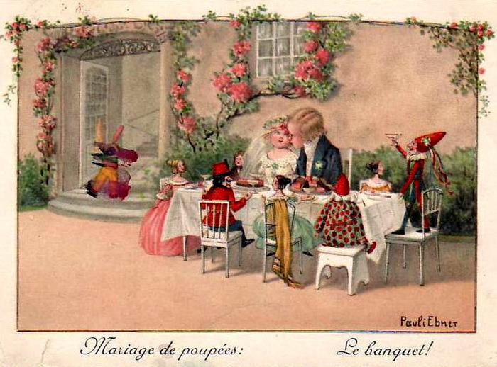 Старинные свадебные открытки картинки 8