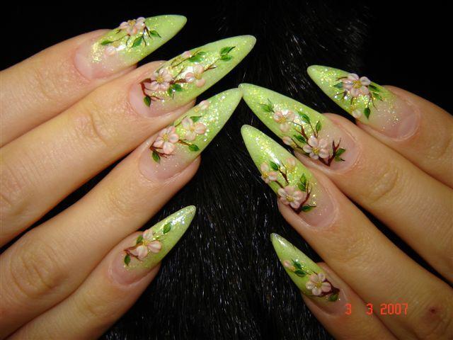 Свои острые ногти дизайн