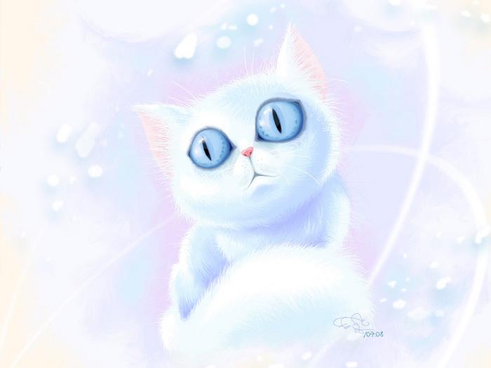 Обои Кошки ( Коты ) Рисованные Животные Фото 279089