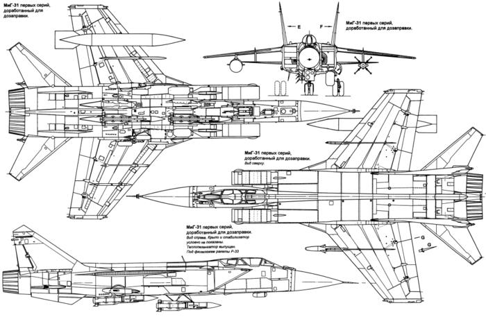 (700x483, 162Kb). Схема МиГ-31