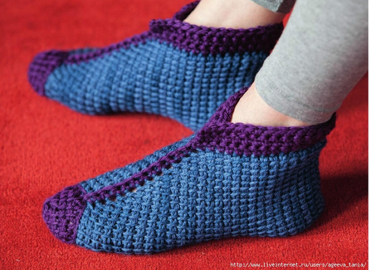 突尼斯钩织拖鞋