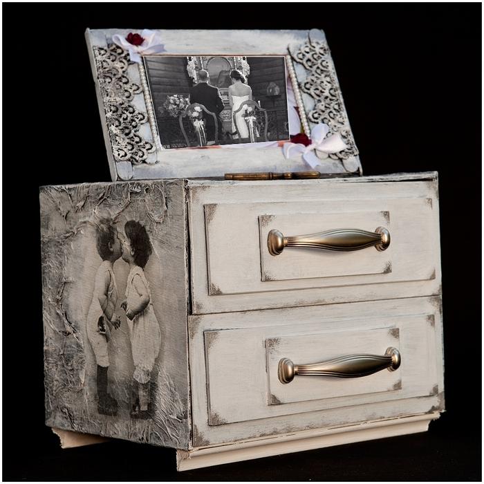 Комодик и рамочка для фотографий из картона. Мастер-класс (4) (700x700, 309Kb)