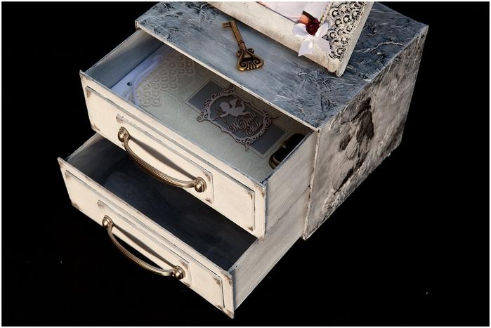 Комодик и рамочка для фотографий из картона. Мастер-класс (10) (700x467, 176Kb)