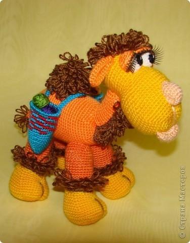 Авторская игрушка Елены Беловой - Верблюжонок Жоржик крючком. Мастер-класс (32) (376x480, 112Kb)