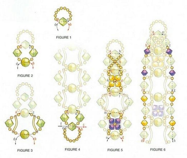 Немного фантазии и у вас получится красивый и необычный браслет. .  Схема плетения браслетов из бисера.