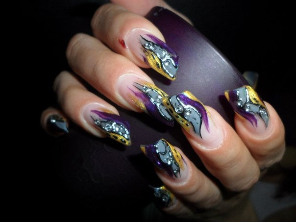 Дизайн ногтей в домашних условиях фото поэтапно