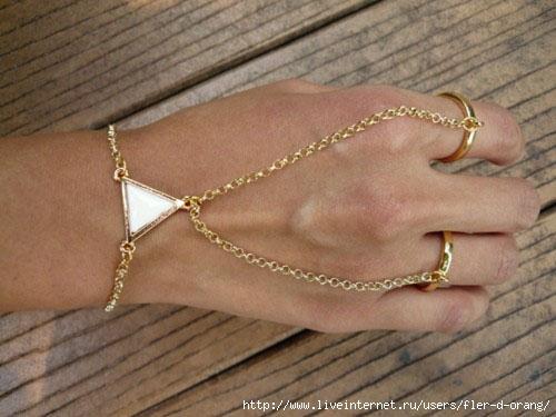Кольцо с цепочкой своими руками