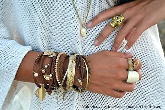 Широкие браслеты своими руками фото