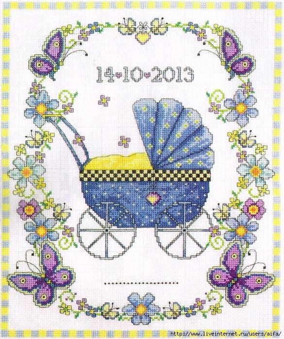 Детские коляски как вышивка