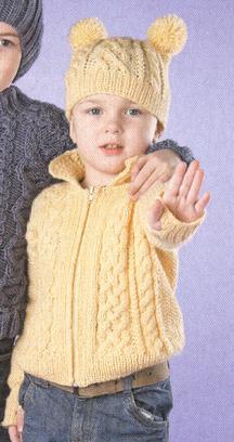 Вязание кофты для девочки спицами на молнии