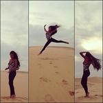 Закат на песчаных дюнах.