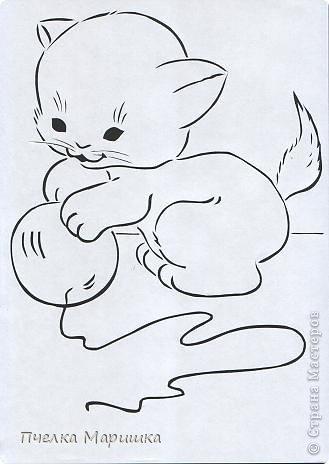 вытынанки котики скачать шаблоны - фото 4