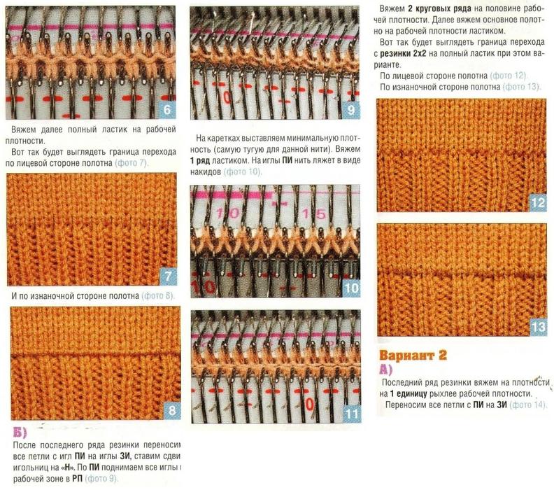 Вязание резинок на круговых спицах 751