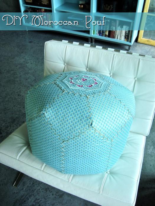 Как сшить круглый мягкий пуфик. Идеи и мастер-класс (8) (525x700, 639Kb)
