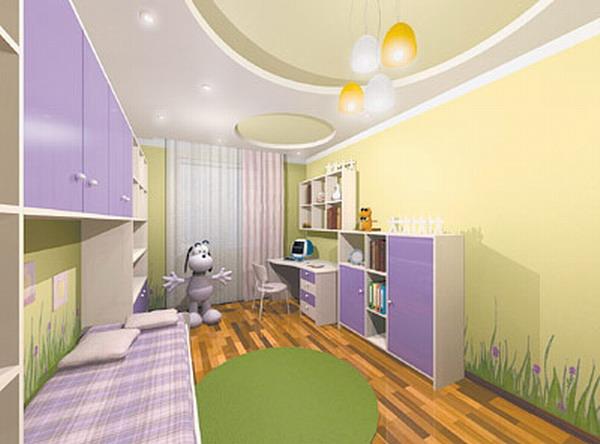 дизайн детской для девочки фото 11 (600x444, 169Kb)