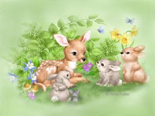 FawnAndBunnies1 (500x375, 93Kb)