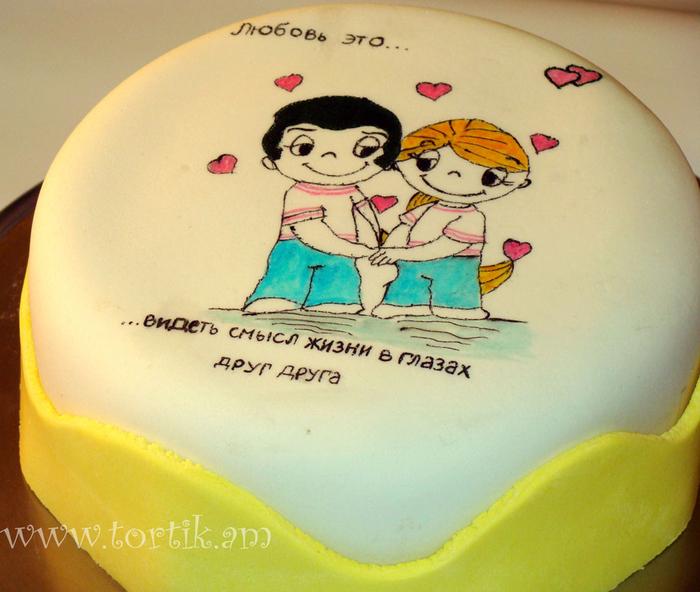Дизайн торта для мужа на день рождения