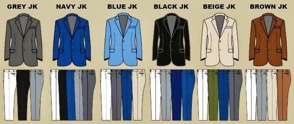 Как правильно подбирать цвет брюк под пиджак