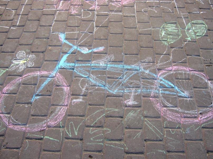 фото рисунки на асфальте детские