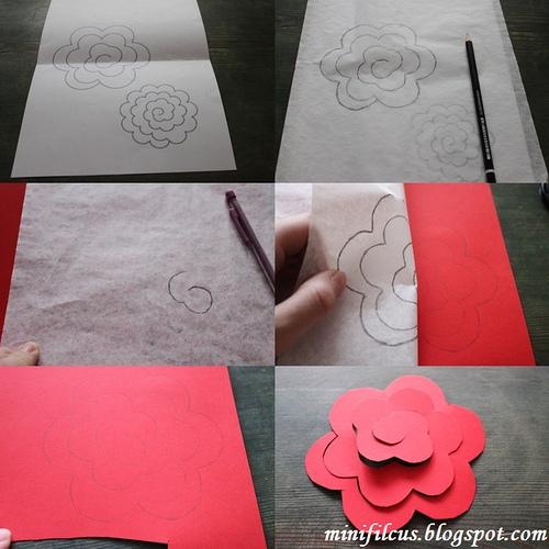 Как сделать бумажные розы. Мастер-класс (4) (500x500, 179Kb)