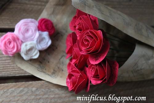 Как сделать бумажные розы. Мастер-класс (6) (500x333, 132Kb)