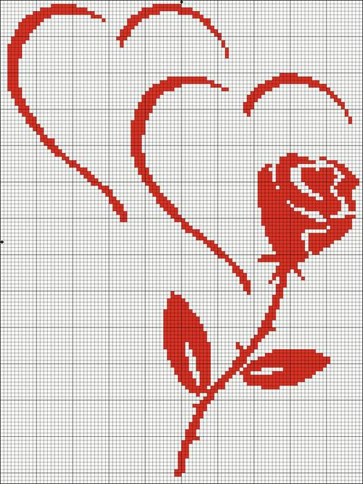 розочка и сердечки (525x700, 410Kb)