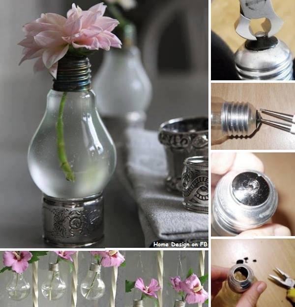 Как сделать вазу из лампочки своими руками 10