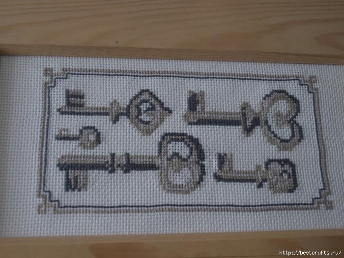 вышивка ангела и ключиков. схемы вышивки крестиком (4) (700x525, 254Kb)