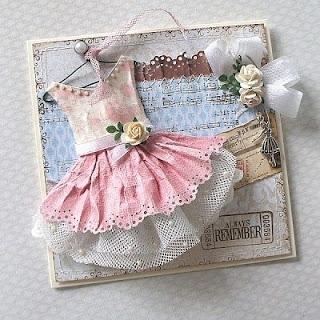 Открытки ручной работы платье