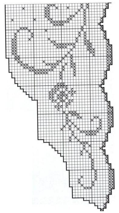 الكروشيه.  الدانتيل والحدود (10) (391x700، 167Kb)