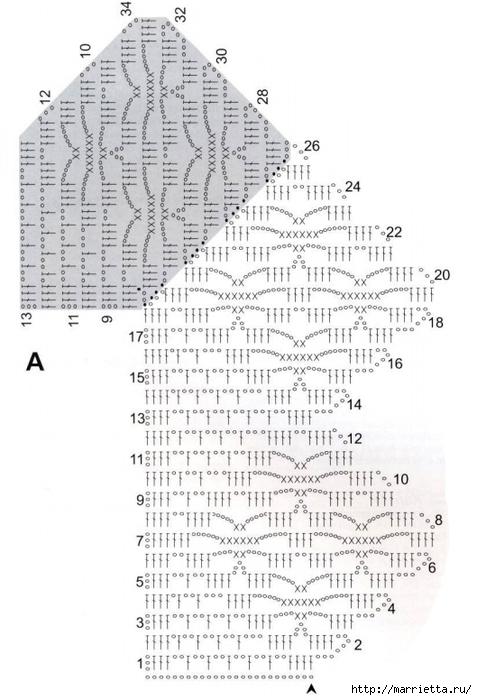 Вязание крючком. Кружева и бордюры (13) (477x700, 193Kb)