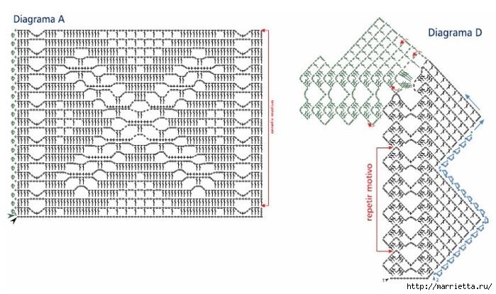 Вязание крючком. Кружева и бордюры (17) (700x415, 202Kb)