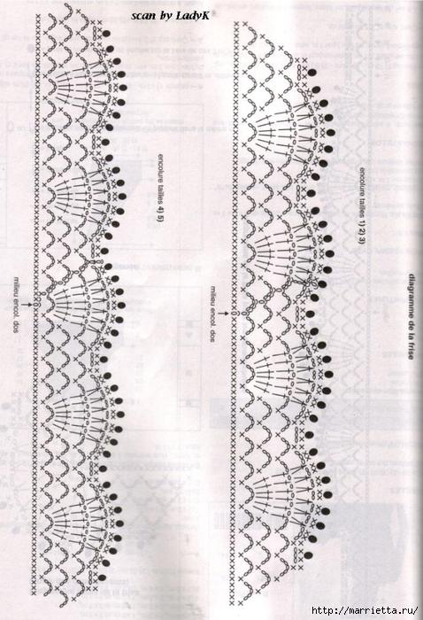 Белое платье ПАРАД УЗОРОВ КРЮЧКОМ. Схемы (2) (478x700, 268Kb)
