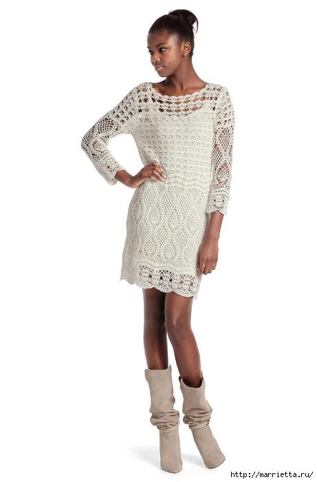Белое платье ПАРАД УЗОРОВ