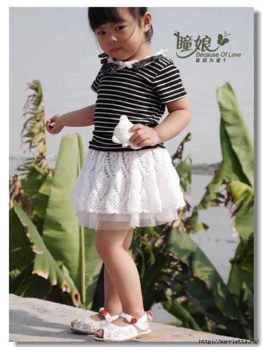 Воздушная ТУТУ юбочка для девочки крючком. Схема (15) (522x690, 167Kb)