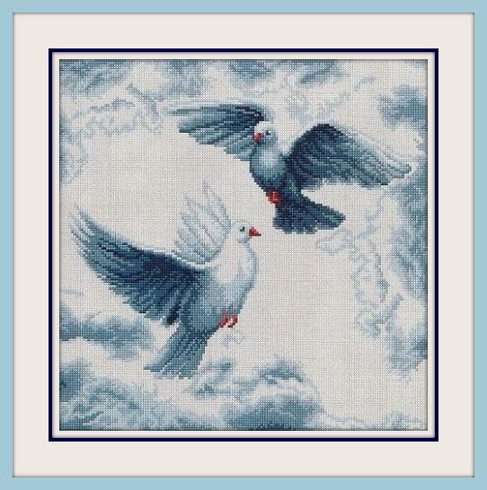 пара голубей (542x546, 114Kb)