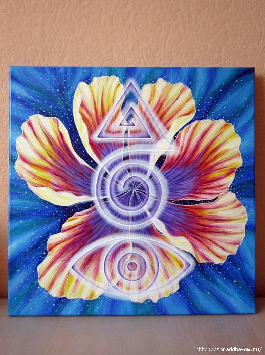 Магия, холст, акрил, автор Shraddha (1) (524x700, 357Kb)