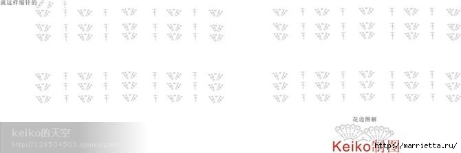 Летний топик крючком для маленькой девочки. Схемы (20) (670x223, 38Kb)
