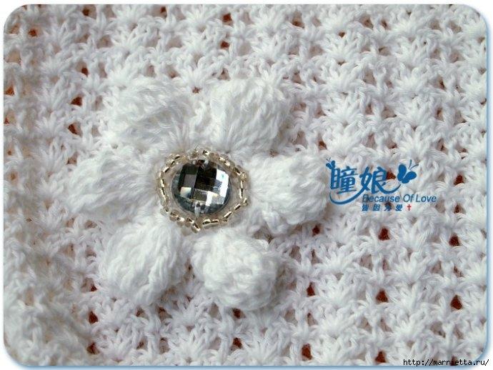 Летний топик крючком для маленькой девочки. Схемы (22) (690x518, 200Kb)