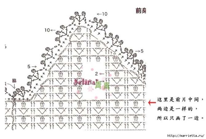 Вязание крючком. Розовый сарафан и платьице для девочки (7) (670x452, 156Kb)