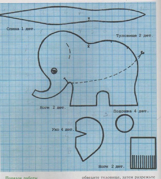 слоник выкройка