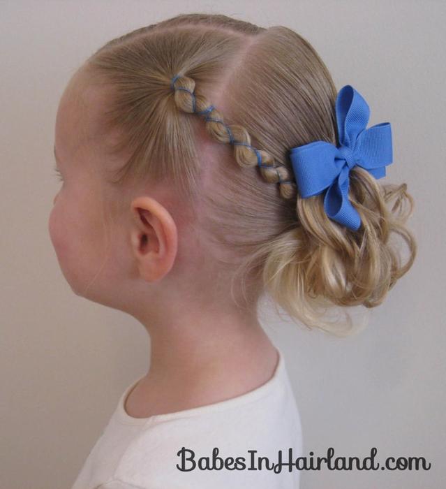 Детские причёски на короткие волосы в домашних