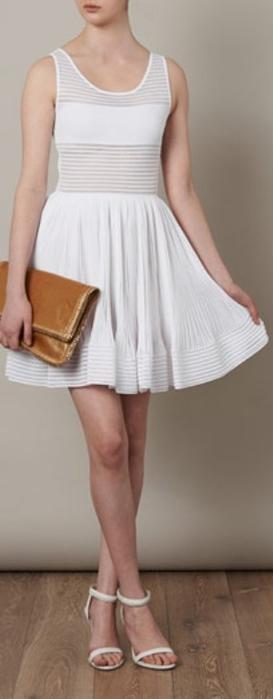 Danae white knitted sleeveless dress with sheer panels by Azzedine Alaïa (273x700, 83Kb)