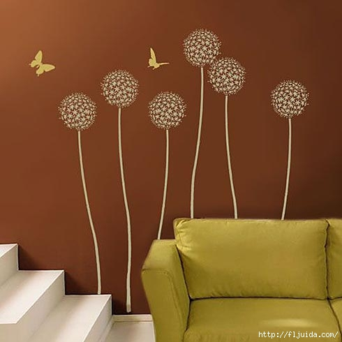 Brown wall decals